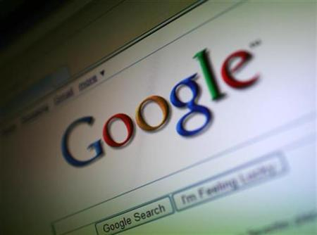 A photo of the Google Inc. logo is shown on a computer screen in San Francisco, California in this July 16, 2009 file photo. British pest control to parcel delivery company Rentokil Initial has chosen Google to manage its electronic communications, making it the largest company to deploy Google's Apps worldwide to date. REUTERS/Robert Galbraith