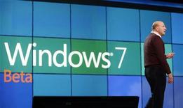 <p>Steve Ballmer, AD di Microsoft, alla presentazione di Windows 7 a Las Vegas.</p>
