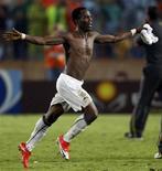 <p>Agyemang-Badu, de Gana, comemora vitória sobre o Brasil na final do Mundial Sub-20, nesta sexta-feira, no Egito REUTERS/Marko Djurica</p>