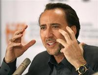 <p>L'attore statunitense Nicolas Cage. REUTERS/Mike Cassese (CANADA ENTERTAINMENT)</p>