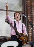 <p>Foto de arquivo de Paul McCartney, que fará uma turnê na Europa em dezembro com sete datas, começando pela cidade de Hamburgo na Alemanha e terminando na Arena O2 em Londres. REUTERS/Mike Segar</p>