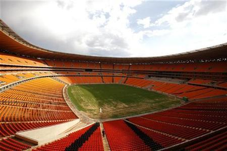 A general view of Soccer City stadium outside Soweto, October 21, 2009. REUTERS/Siphiwe Sibeko
