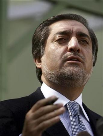 Opposition candidate Abdullah Abdullah speaks during a news conference in Kabul October 21, 2009. REUTERS/Omar Sobhani