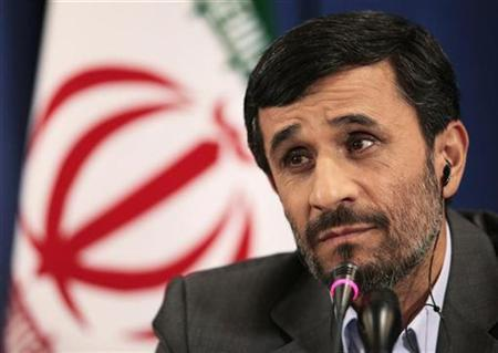 Iran's President Mahmoud Ahmadinejad listens to a reporter's questions during a news conference in New York in this September 25, 2009 file photo. Iran will not retreat ''one iota'' on its nuclear rights, but it is ready to cooperate on issues regarding atomic fuel, power plants and technology, Ahmadinejad said Thursday. REUTERS/Lucas Jackson