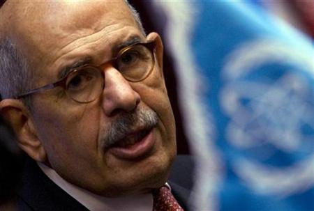 International Atomic Energy Agency (IAEA) Director General Mohamed ElBaradei speaks during a media conference in Tehran October 4, 2009. REUTERS/Caren Firouz
