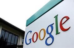 <p>Il logo di Google davanti al quartier generale della società a Mountain View, California, in una foto d'archivio. REUTERS PICTURES</p>