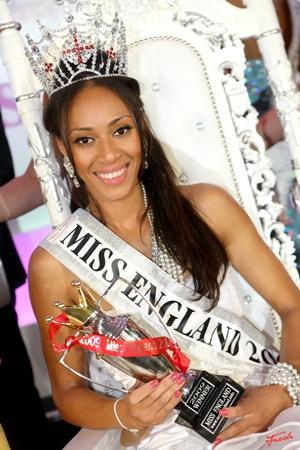 Rachel Christie after being crowned Miss England in London, July 20, 2009. REUTERS/Miss England/Handout