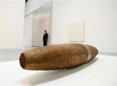 ''Cigar'' by artist Robert Gober is seen during a media preview of the exhibit ''Collection: MOCA's First Thirty Years'' at The Geffen Contemporary at MOCA in Los Angeles November 12, 2009. REUTERS/Mario Anzuoni