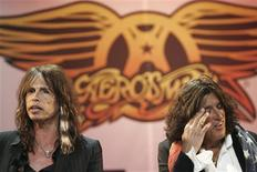 "<p>Aerosmith's Steven Tyler (L) and Joe Perry attend a news conference for the new video game ""Guitar Hero: Aerosmith"" in New York, in this June 27, 2008 file photo. Steven, we love you. But you need to get sober, and we need to find a new singer. That appears to be the consensus among Aerosmith frontman Tyler's bandmates, who are dropping loud hints that he is back on drugs. REUTERS/Lucas Jackson/Files</p>"