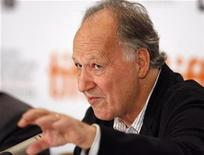 "<p>Director Werner Herzog gestures during the news conference for the film ""Bad Lieutenant: Port Of Call New Orleans"" at the 34Th Toronto International Film Festival in Toronto September 15, 2009. REUTERS/Mike Cassese</p>"