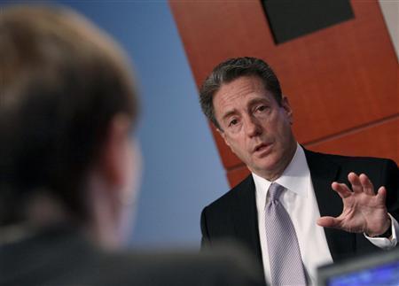 Lee Fensterstock, CEO of Broadpoint Gleacher, speaks at the Reuters Global Finance Summit in New York, November18, 2009. REUTERS/Brendan McDermid