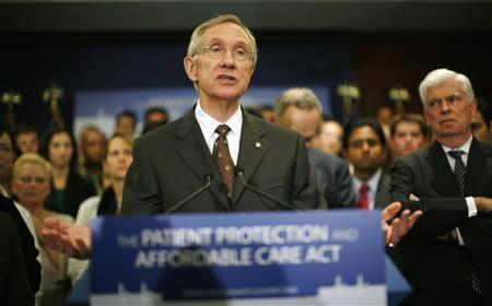 U.S Senate Majority leader Harry Reid speaks about healthcare reform legislation during a news conference at the Capitol in Washington November 19, 2009. REUTERS/Kevin Lamarque