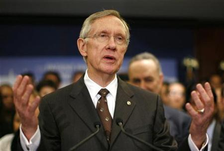 Senate Majority leader Harry Reid speaks about healthcare reform legislation during a news conference at the Capitol in Washington November 19, 2009. REUTERS/Kevin Lamarque