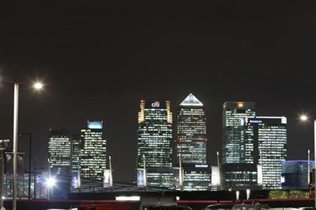 The Canary Wharf business district of London, November 13, 2009. REUTERS/Luke MacGregor