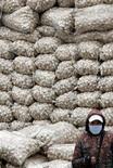 <p>Продавец чеснока а рынке в Пекине 25 ноября 2009 года. Чеснок подорожал в Китае в четыре раза с марта, став одним из самых прибыльных товаров в стране в этом году. Однако наблюдатели не могут прийти к единому мнению о причинах стремительного подорожания продукта. REUTERS/David Gray</p>