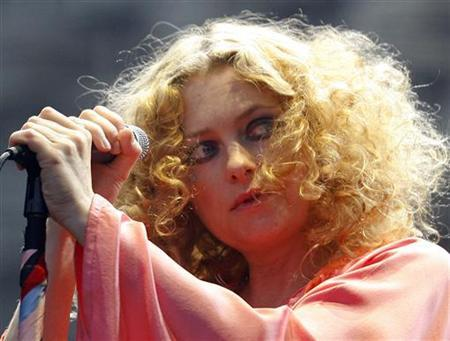 British singer Alison Goldfrapp performs with her group Goldfrapp during the Heineken Open'er Festival in Gdynia, northern Poland in this July 6, 2008 file photo. REUTERS/Kacper Pempel