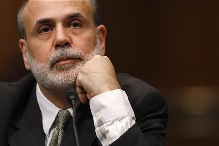 U.S. Federal Reserve Chairman Ben Bernanke is pictured at his Senate Banking, Housing and Urban Affairs Committee hearing on his nomination to continue as Chairman of the Board of Governors, on Capitol Hill in Washington, December 3, 2009. REUTERS/Jason Reed