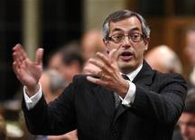 <p>Canada's Industry Minister Tony Clement speaks during Question Period in the House of Commons on Parliament Hill in Ottawa in this September 17, 2009 file photo. REUTERS/Chris Wattie</p>