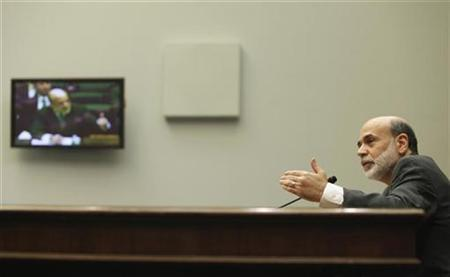 Federal Reserve Chairman Ben Bernanke on Capitol Hill, October 1, 2009. REUTERS/Richard Clement