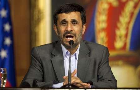 Iran's President Mahmoud Ahmadinejad talks to the media during an agreement signing ceremony at Miraflores Palace in Caracas November 25, 2009. REUTERS/Carlos Garcia Rawlins