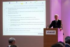 <p>Jean-Bernard Lévy, président du directoire de Vivendi. Le groupe français a porté sa participation dans l'opérateur télécoms brésilien GVT à 81,82% après l'exercice d'options. /Photo prise le 1er septembre 2009/REUTERS/Benoît Tessier</p>