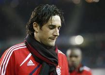 <p>Il giocatore del Bayern Monaco Luca Toni. REUTERS/Christian Charisius</p>