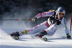 <p>La sciatrice americana Lindsey Vonn a Lienz. REUTERS/Dominic Ebenbichler</p>