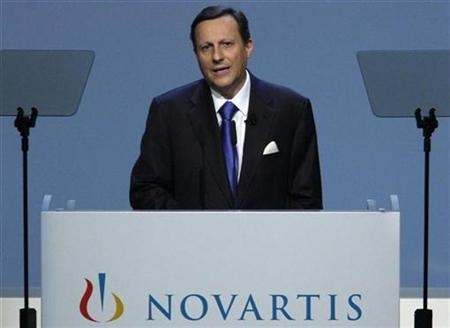 Swiss drugmaker Novartis Chief Executive Officer (CEO) Daniel Vasella addresses the annual general shareholders meeting in Basel February 24, 2009. REUTERS/Christian Hartmann