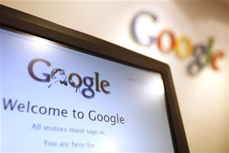 The Google logo is seen on a computer monitor at Google's Hong Kong office January 14, 2010. REUTERS/Tyrone Siu