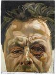 "<p>The painting entitled ""Self-Portait with a Black Eye"" by artist Lucien Freud is seen in this handout photo released in London January 19, 2010. A self-portrait of a badly bruised Lucian Freud will go under the hammer at Sotheby's in London next month and is expected to fetch 3-4 million pounds ($4.9-6.5 million dollars), the auctioneer announced on Tuesday. REUTERS/Sotheby's/Handout</p>"