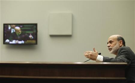 Fed Chairman Ben Bernanke testifies on Capitol Hill, October 1, 2009. REUTERS/Richard Clement