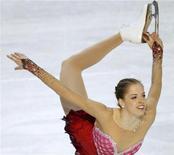 <p>22 gennaio 2010. Carolina Kostner durante il programma corto che l'ha vista oggi protagonista. REUTERS/Grigory Dukor</p>