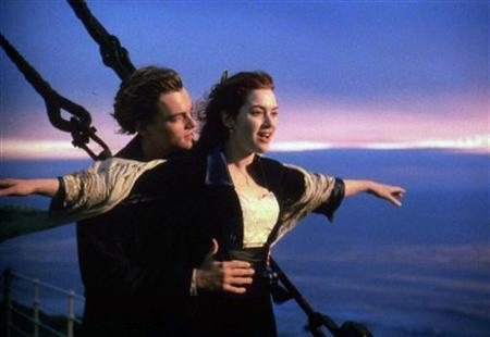 Kate Winslet and Leonard DiCaprio in a scene from the 1997 film ''Titanic''. REUTERS/File