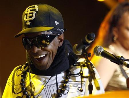 Funk music pioneer Sly Stone performs during a concert with Sly & The Family Stone at the 41st Montreux Jazz Festival early July 14, 2007. REUTERS/Denis Balibouse