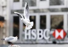 <p>Чайка пролетает мимо здания банка HSBC в Женеве 22 декабря 2009 года. Германия все же приняла решение купить информацию о клиентах швейцарского банка, которые могли уйти от уплаты немецких налогов, сообщил министр финансов Вольфганг Шойбле. REUTERS/Valentin Flauraud</p>