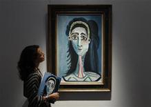 """<p>Il dipinto di Pablo Picasso """"Tete de femme"""". REUTERS/Stefan Wermuth</p>"""