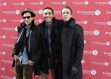 "<p>Co-directors Ariel Schulman (L) and Henry Joost (R) smile together with the subject of the film ""Catfish,"" Yaniv Schulman, before the film's premiere during the 2010 Sundance Film Festival in Park City, Utah January 22, 2010. REUTERS/Lucas Jackson</p>"