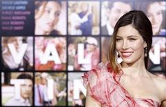 "<p>Cast member Jessica Biel poses at the premiere of ""Valentine's Day"" at the Grauman's Chinese theatre in Hollywood, California February 8, 2010. The movie opens in the U.S. on February 12. REUTERS/Mario Anzuoni</p>"