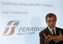 <p>Mauro Moretti, amministratore delegato Trenitalia, in foto d'archivio. REUTERS/Arnd Wiegmann</p>