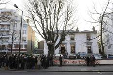 <p>People gather outside the Abbey Road Studios, in north London February 17, 2010. REUTERS/Jas Lehal</p>