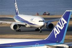 <p>Velivoli di All Nippon Airways. REUTERS/Stringer</p>