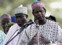 <p>Nigeria's President Umaru Yar'Adua and his vice Goodluck Jonathan, March 28, 2007. REUTERS/Sunday Aghaeze</p>