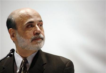 Fed Chairman Ben Bernanke speaks during a presentation at the American Economic Association conference in Atlanta, January 3, 2010. REUTERS/Tami Chappell