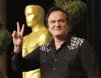 """<p>Quentin Tarantino, indicado ao Oscar de melhor diretor por """"Bastardos Inglórios"""", participa de almoço da 82a edição dos Oscars em Beverly Hills. Aos 46 anos, Tarantino é considerado um grande nome da indústria do cinema dos EUA. 15/02/2010 REUTERS/Mario Anzuoni</p>"""