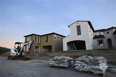 Homes under construction are seen in Walnut, California, February 16, 2010. REUTERS/Mario Anzuoni