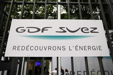 The logo of GDF Suez group is seen in front the headquarters in Paris July 17, 2008. REUTERS/Charles Platiau