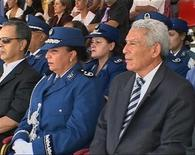 <p>Algeria's national police chief Ali Tounsi attends the graduation ceremony of 500 female police cadets in this file video grab taken on August 6, 2009. REUTERS/Reuters TV</p>