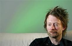 <p>Radiohead's Thom Yorke listens during an interview with Reuters in Maidenhead, central England, April 23, 2008. REUTERS/Alessia Pierdomenico</p>