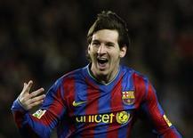 <p>Il calciatore argentino del Barcellona Lionel Messi. REUTERS/Albert Gea (SPAIN - Tags: SPORT SOCCER)</p>