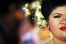 <p>Partecipante di una concorso di bellezza dedicato a donne oltre gli 80 kg. REUTERS/Damir Sagolj</p>